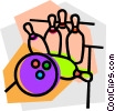 Vector Clipart illustration  of a Bowling ball