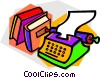 Vector Clipart graphic  of a Typewriters