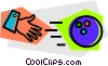 Bowling ball, hand Vector Clip Art picture