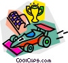 Vector Clip Art picture  of an Auto Racing