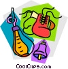 Vector Clip Art image  of a Boxing equipment