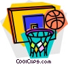 Vector Clip Art graphic  of a basketball