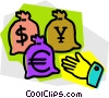 Money Bags Vector Clipart illustration
