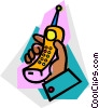 Cellular Wireless and Cordless Phones Vector Clip Art image