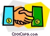 greetings, shaking hands Vector Clipart graphic