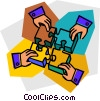 Vector Clipart image  of a Pieces of a Puzzle