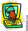 Vector Clip Art picture  of a Keyboards