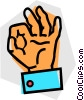 Vector Clip Art image  of a Hands