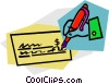 Checks Vector Clip Art picture