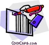 Vector Clip Art image  of a Bar Codes
