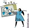Vector Clipart image  of a recycling