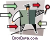 crossing guard Vector Clip Art graphic