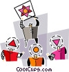 Vector Clipart picture  of a presentation