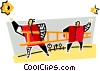 Vector Clipart graphic  of a teamwork and cooperation