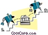 Vector Clipart illustration  of a financial institutions