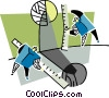 Vector Clip Art graphic  of a measurement