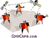 Vector Clip Art graphic  of a communications