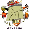 Vector Clipart image  of a business cycle