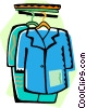 Vector Clipart illustration  of a Clothes in a closet
