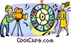 Vector Clip Art image  of a Game show being filmed