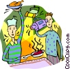 Filming a cooking show Vector Clipart picture