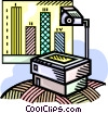 overhead projector Vector Clip Art picture