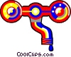 Vector Clipart image  of a Pipes and tools