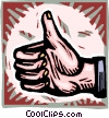 Vector Clip Art graphic  of a thumbs up