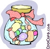 Vector Clip Art image  of a Jar of candies
