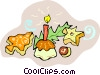 Vector Clip Art graphic  of a Christmas cookies and treats