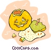 Carved pumpkin Vector Clipart image
