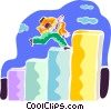 Vector Clipart graphic  of a Stairways to Success