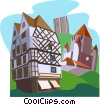 Le Logis Adam (Angers), Donjon de Provins, Donjon Vector Clipart illustration
