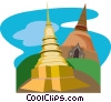 Vector Clip Art image  of a Buddhist Temple of Lamphun