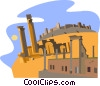 Syria, Ancient City of Bosra Vector Clip Art image