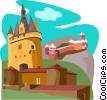 Le Haut-Koenigsbourg, La Porte Cailhau, Castelneau Vector Clipart image