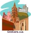 France, Roqueltaillade, La ville de Carcassonne Vector Clipart graphic