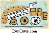 construction vehicle dump truck Vector Clipart picture