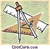 Vector Clip Art image  of a geometry supplies