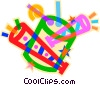 drum, horns Vector Clipart picture