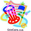 Vector Clipart illustration  of a 4th of July, America