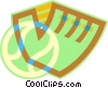 Vector Clipart image  of a baseball