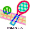 Vector Clip Art image  of a tennis racquet