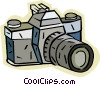 Vector Clip Art graphic  of a 35mm camera