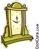 Vector Clip Art image  of a mantle clock
