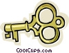 Vector Clip Art image  of a old fashion key