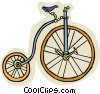 Vector Clipart illustration  of a Penny Farthing bicycle
