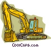 Backhoe Vector Clipart illustration