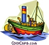 Vector Clip Art picture  of a ship