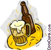 Vector Clipart graphic  of a Mug of beer